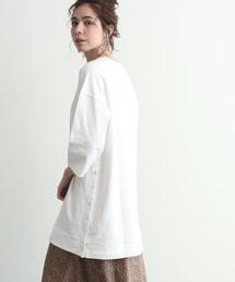 OZOC(オゾック)の[洗える]スリットスナップボタンチュニックビッグTシャツ(Tシャツ/カットソー)
