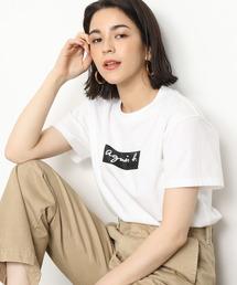 agnes b.(アニエスベー)の【agnes b. pour ADAM ET ROPE'】T-SHIRTS BOX LOGO(Tシャツ/カットソー)