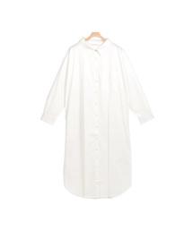 Pierrot(ピエロ)のシンプルロングシャツ(シャツワンピース)