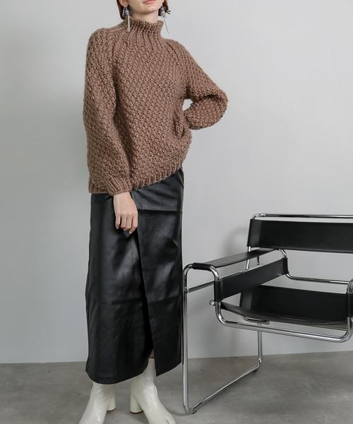 【chuclla】【2020/AW】 PU leather wrap taste skirt chd9