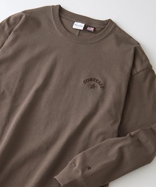 CONVERSE/コンバース USAコットン アーチロゴ刺繍 長袖カットソー