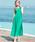 SweetMommy(授乳服&マタニティ)(スウィートマミー)の「カシュクール袖なしロングワンピース(マタニティウェア)」|グリーン