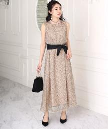 Bou Jeloud(ブージュルード)の【結婚式・ニモ・二次会】ハイネック総レースロングドレス(ドレス)
