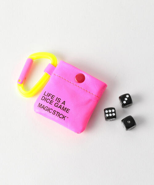 <MAGIC STICK> NEON/POUCH WITH DICE/ポーチ