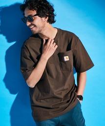 carhartt カーハート Workwear 1/2-Sleeve T-Shirts ビッグシルエット 半袖 ポケットTシャツダークブラウン