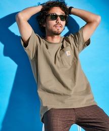 carhartt カーハート Workwear 1/2-Sleeve T-Shirts ビッグシルエット 半袖 ポケットTシャツベージュ