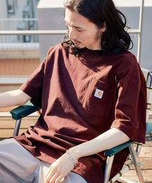 carhartt カーハート Workwear 1/2-Sleeve T-Shirts ビッグシルエット 半袖 ポケットTシャツワイン