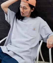 carhartt カーハート Workwear 1/2-Sleeve T-Shirts ビッグシルエット 半袖 ポケットTシャツヘザーグレー