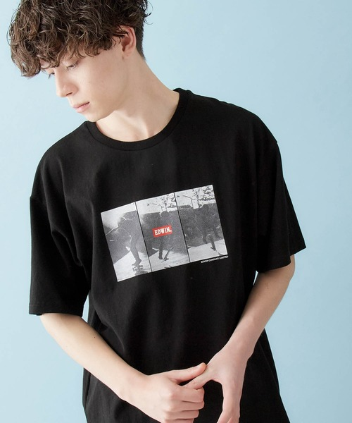 EDWIN/エドウィン BASIC PRINT H/S TEE フォトプリント半袖Tシャツ