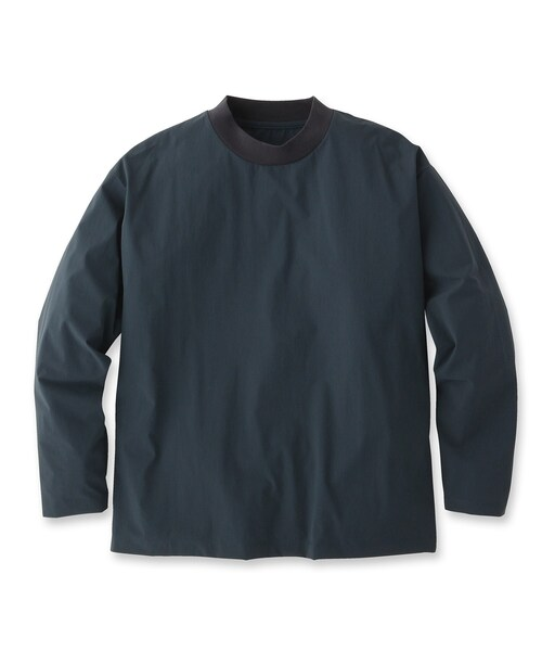 UNBUILT TAKEO KIKUCHI(アンビルト タケオキクチ)の「ドライシェルライトプルオーバー(Tシャツ/カットソー)」 ダークネイビー