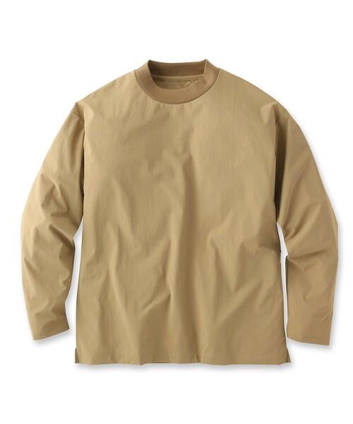 UNBUILT TAKEO KIKUCHI(アンビルト タケオキクチ)の「ドライシェルライトプルオーバー(Tシャツ/カットソー)」 サンドベージュ