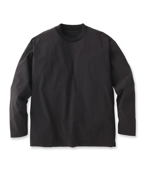 UNBUILT TAKEO KIKUCHI(アンビルト タケオキクチ)の「ドライシェルライトプルオーバー(Tシャツ/カットソー)」 ブラック
