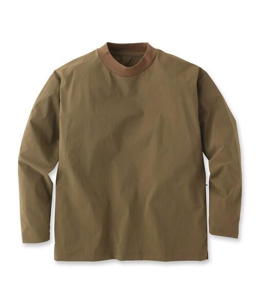 UNBUILT TAKEO KIKUCHI(アンビルト タケオキクチ)の「ドライシェルライトプルオーバー(Tシャツ/カットソー)」 ダークグリーン