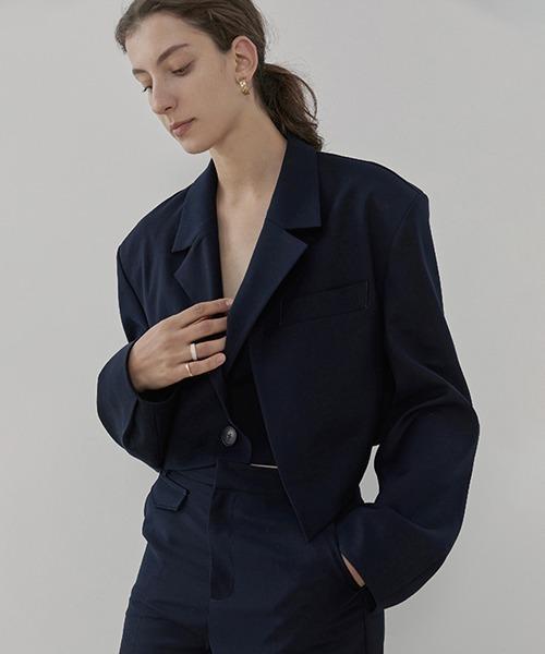 【UNSPOKEN】Short tailored collar jacket UC20W288