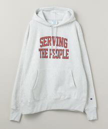 <Seving The People(サービング ザ ピープル)> COLLEGIATE HOODIE/フーディ