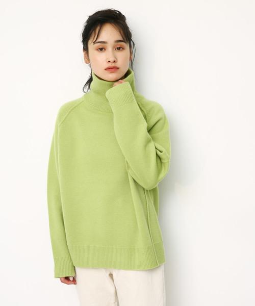 rib turtle knit tops