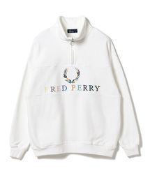 BEAMS(ビームス)の「FRED PERRY × BEAMS / 別注 90'sロゴ 切替 ハーフジップ(スウェット)」