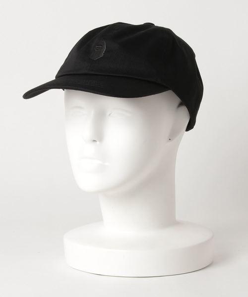 A BATHING APE(アベイシングエイプ)の「APE HEAD ONE POINT PANEL CAP M(キャップ)」|ブラック