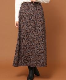 Green Parks(グリーンパークス)の・SUGAR SPOON レオパードAラインスカート*(スカート)