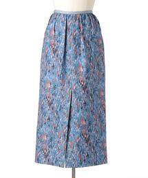 Drawer シルクプリントセミタイトスカート