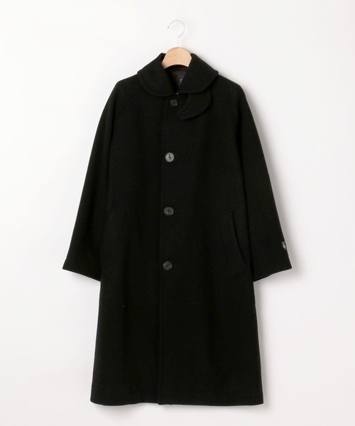 ORCIVAL(オーシバル)の「【ORCIVAL】ライトモッサ ラグランコート WOMEN(ステンカラーコート)」|ブラック