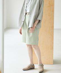 ルーズシルエットイージーワイドショーツ EMMA CLOTHES 2021 SUMMERグリーン系その他
