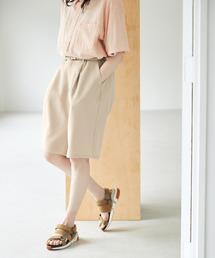 ルーズシルエットイージーワイドショーツ EMMA CLOTHES 2021 SUMMERグレイッシュベージュ