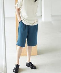 ルーズシルエットイージーワイドショーツ EMMA CLOTHES 2021 SUMMERブルー