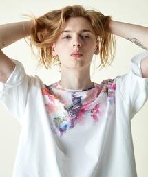 rehacer(レアセル)のrehacer : Wrap Flower on Japan made body / ラップ フラワー Tシャツ メイドインジャパン(Tシャツ/カットソー)