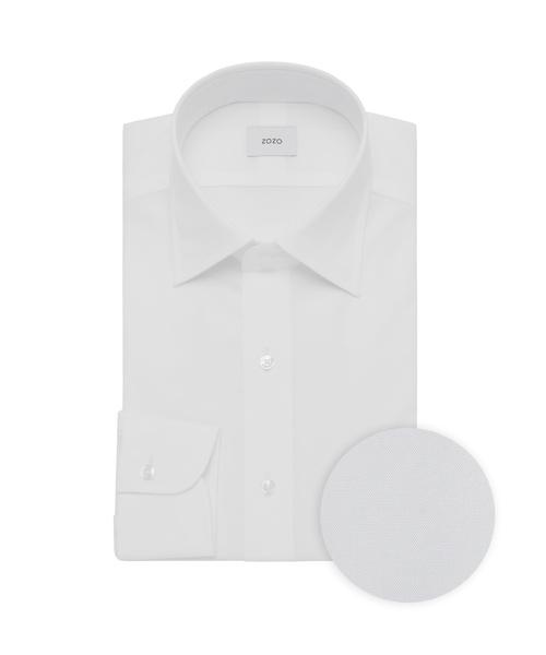 「ドレスシャツ(カスタムオーダー)/無地 ホワイト[MEN](シャツ/ブラウス)」