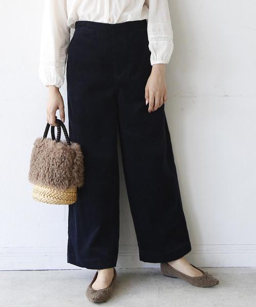 【新色追加】コーデュロイワイドパンツ