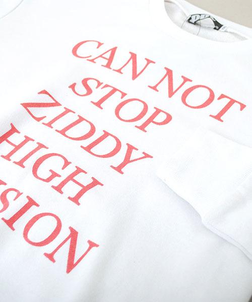 ZIDDY/裏毛ロゴビッグトレーナー