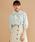 merlot(メルロー)の「チェック・ストライプ柄ボウタイリボン襟ブラウス3090(シャツ/ブラウス)」|グリーン