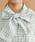 merlot(メルロー)の「チェック・ストライプ柄ボウタイリボン襟ブラウス3090(シャツ/ブラウス)」|詳細画像