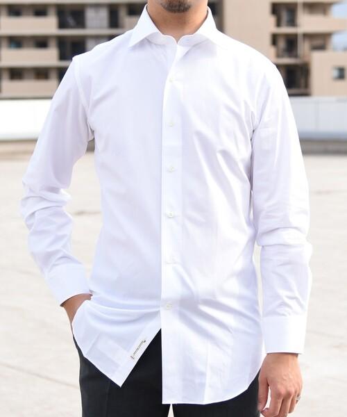 SHIPS(シップス)の「SD: ALBINI バンド ソリッド ワイドカラーシャツ(シャツ/ブラウス)」 詳細画像