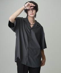 extra drape TR open collar shirt