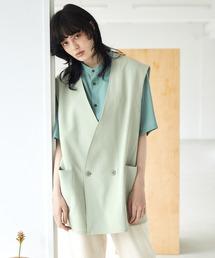 ルーズシルエットオーバーサイズベスト EMMA CLOTHES 2021 SUMMERグリーン系その他