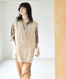 ルーズシルエットオーバーサイズベスト EMMA CLOTHES 2021 SUMMERグレイッシュベージュ