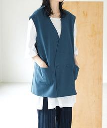 ルーズシルエットオーバーサイズベスト EMMA CLOTHES 2021 SUMMERブルー
