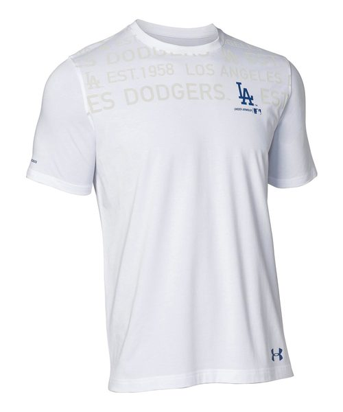 メンズ  MLB  ベースボール半袖Tシャツ /   チャージドコットンTシャツテキスト<ロサンゼルス・ドジャース>