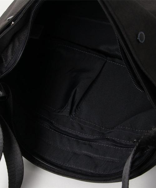 【anello(アネロ)】別注 高密度杢調ポリエステル ミニポーチ付10ポケットショルダーバッグ (AT-S0111タイプ)