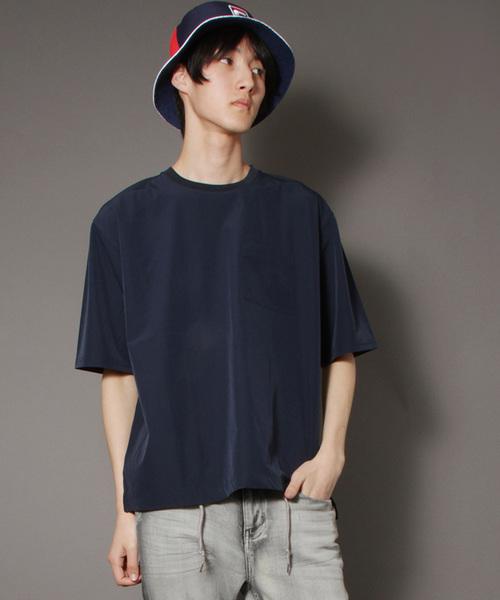 【IFRUN ORIGINAL】4WAYナイロンストレッチクルーネック半袖Tシャツ