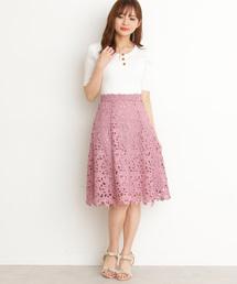PROPORTION BODY DRESSING(プロポーションボディドレッシング)のリボンケミカルフレアースカート(スカート)