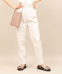 ROPE' mademoiselle(ロペマドモアゼル)の綿麻センタープレスグルカパンツ(パンツ)