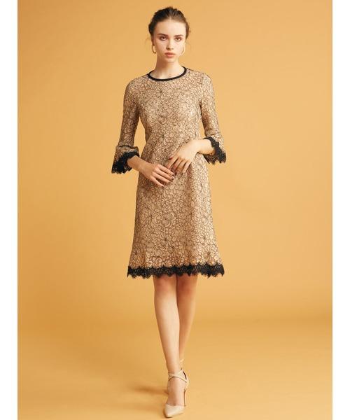 最も完璧な 【セール】配色レーススカラドレス(ドレス) ROYAL PARTY(ロイヤルパーティー)のファッション通販, REX ONE レックスワン:b9f5c333 --- ascensoresdelsur.com