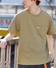 Lee/リー LOGO POCKET S/S TEE ロゴ刺繍ポケット半袖Tシャツグリーン系その他