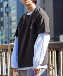 Lee/リー LOGO POCKET S/S TEE ロゴ刺繍ポケット半袖Tシャツブラック