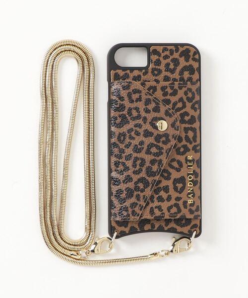 【BANDOLIER】GIA SIDE SLOT LEOPARD ジア サイド スロット レオパード iPhone 12 iPhone 12Pro iPhone SE/8/7/6s/6 iPhone 11 対応ケース