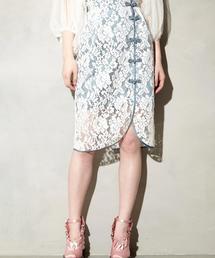 PAMEO POSE(パメオポーズ)のMacau Lace Tight Skirt(スカート)