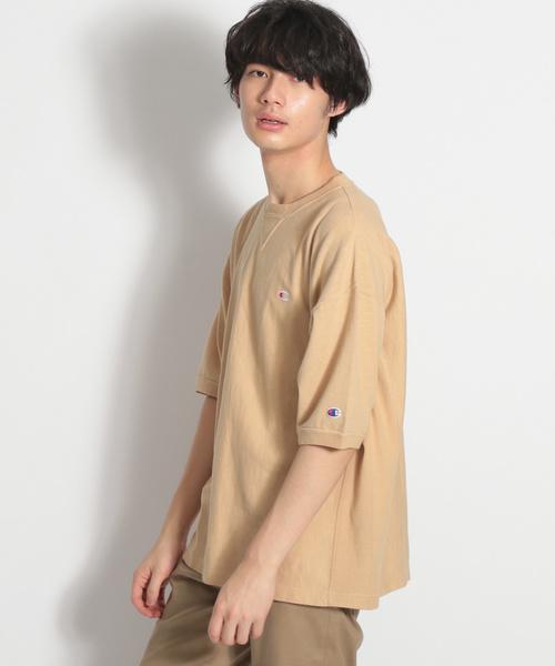 【Champion(チャンピオン)】別注リバースウィーブオーバーダイTシャツ